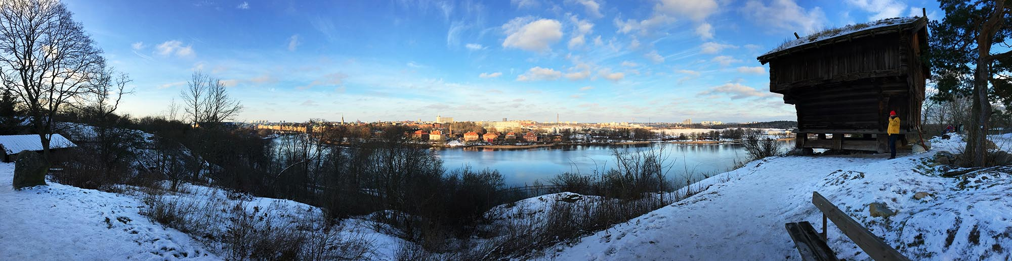 Panorama von Skansen auf Stockholm
