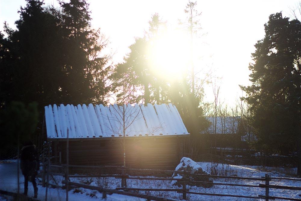 Eine der wenigen Sonnenstunden in Schweden um diese Jahreszeit