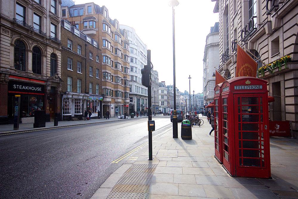 Irgendeine Straße in der Nähe des Leicester Square. Name vergessen.