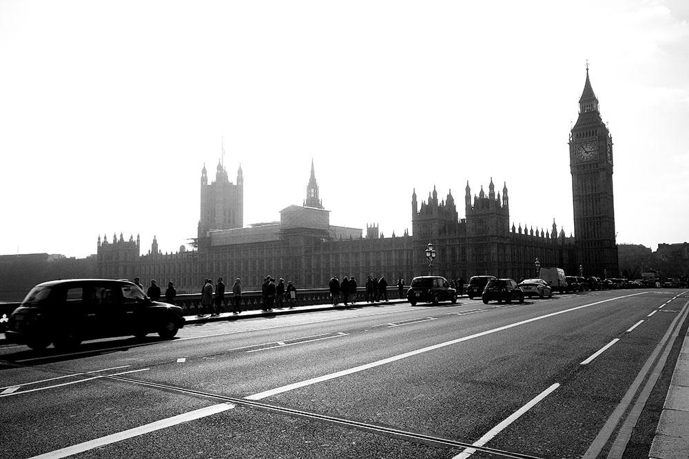 Blick von der Westminster Bridge mit Big Ben