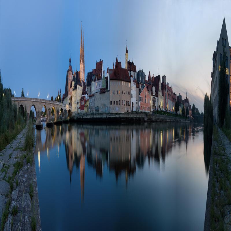 Das quadratische, angepasste Panorama