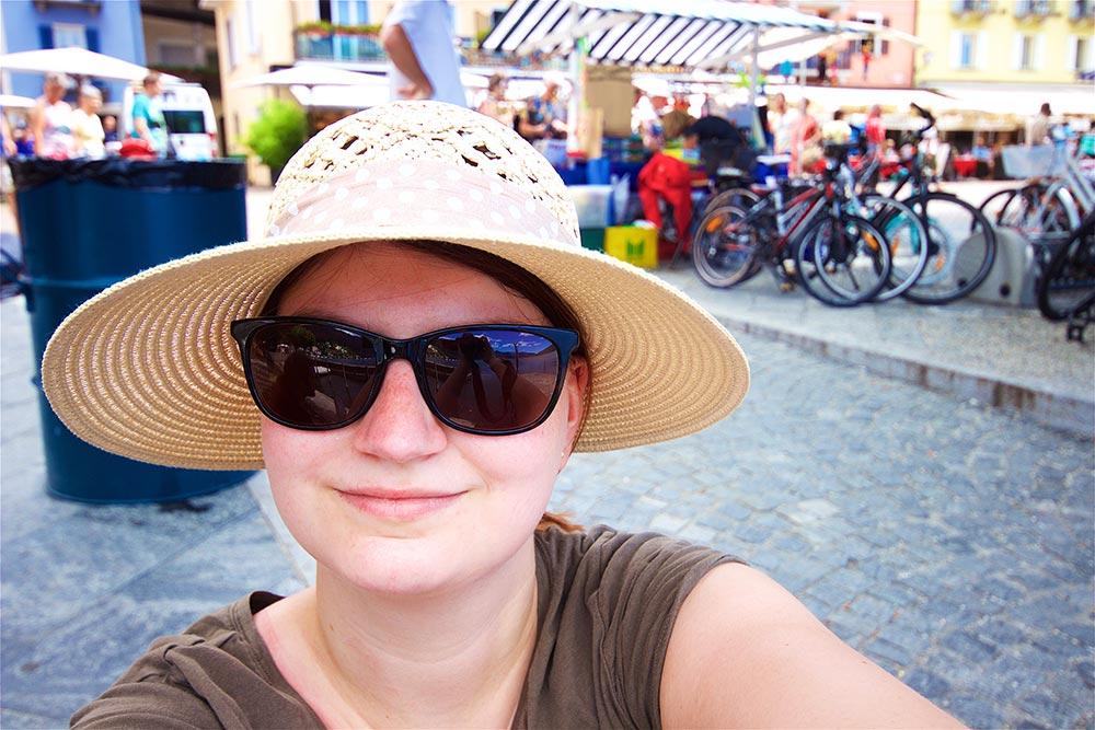 Strandpromenade Ascona, Markt-Selfie
